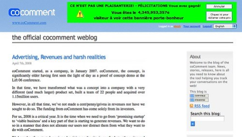 coComment blog » Blog Archive » Advertising, Revenues and harsh realities