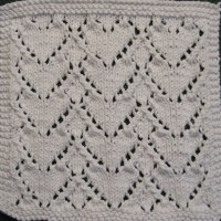 Links: Knitted Heart Washcloths