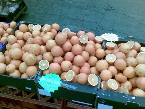 Oranges on sale