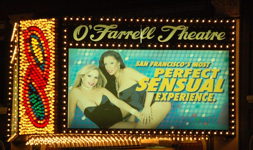 SF O'FARRELL THEATRE SIGN