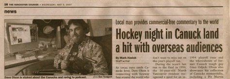 Canucks Outsider in Vancouver Courier