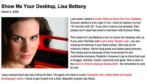 Show me your desktop Lisa Bettany (Beta News)
