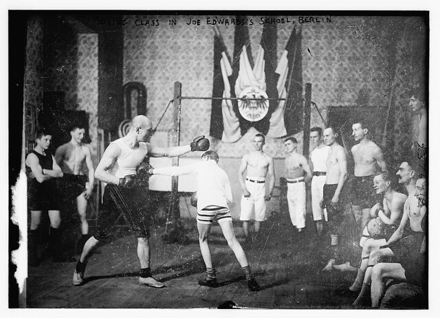 Boxing class in Joe Edward's School, Berlin (LOC)