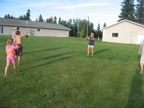 Football at the Deschner's