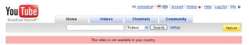 Youtube - Denied in the PRC
