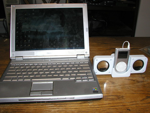 Laptop and iPod