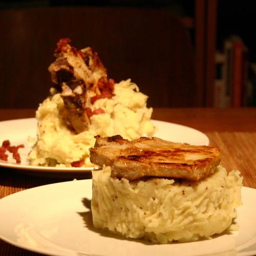 Sauerkraut Mash with Porkchops.