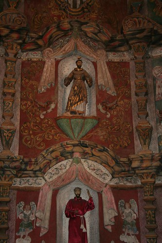 The saints inside San Xavier