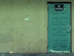 """""""No Parking"""" Door"""