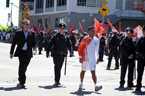 Olympic Torch Run in San Francisco