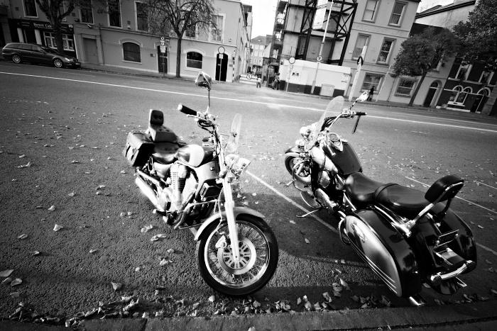 Parked Motorbikes