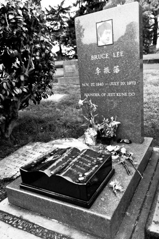 The grave of the great Bruce Lee