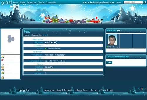 orkut theme - winter
