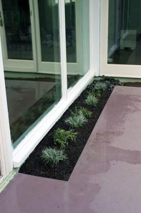 Planted patio