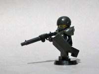 Custom LEGO riot police minifig