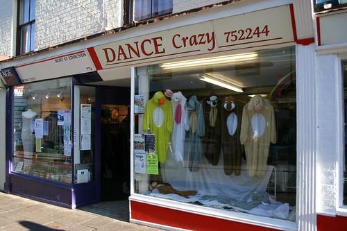 Dance Crazy shop in Bury St. Edmunds, UK