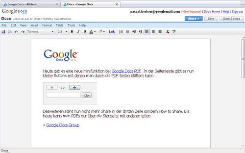 Google Docs Full Screen
