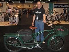 Beautiful long tail bicycle.