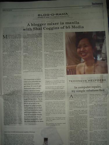 Manila Bulletin's Blog-O-Rama Interview: Published 3 Dec 07