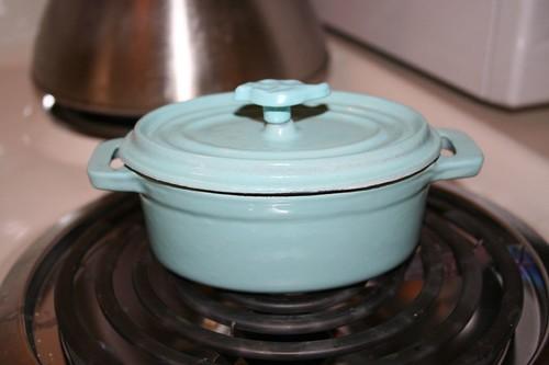 tiny, cast iron pots