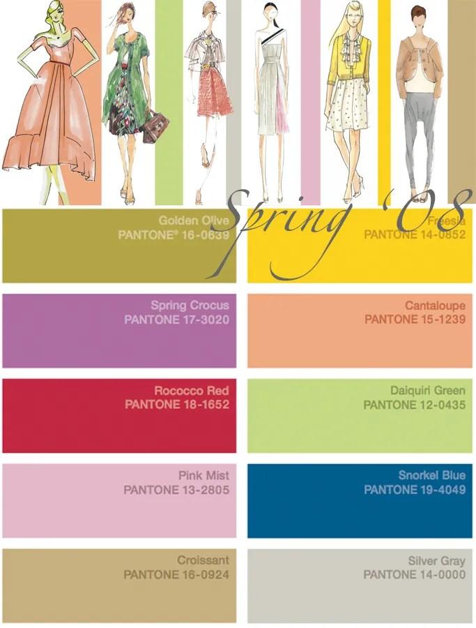 Pantone Color Forecast {Spring + Fall '08}