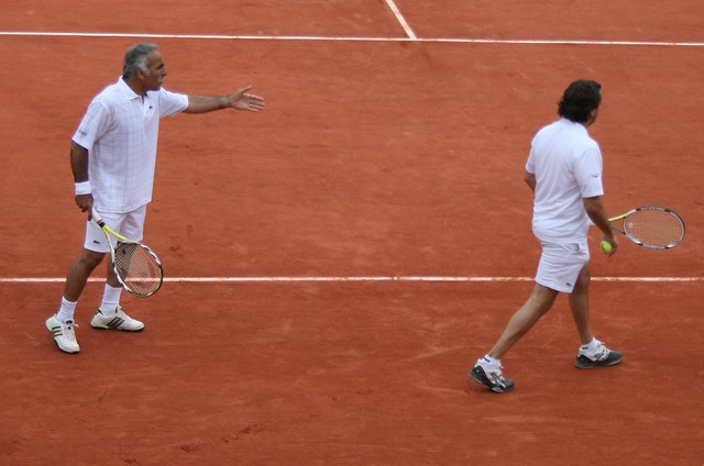 Mansour Bahrami and Henri Leconte