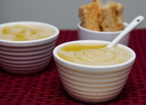Celeriac, cauliflower and leek soup