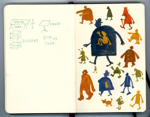 sketchbook and paint: walkers