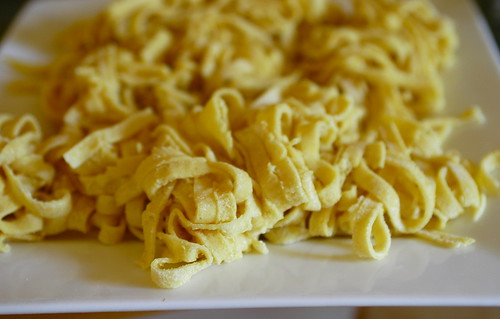 homemade gluten-free pasta ready to be cooked