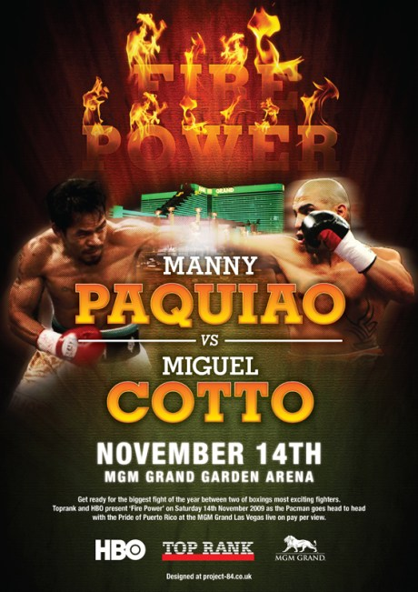 The poster of FIREPOWER - Pacquiao vs. Cotto