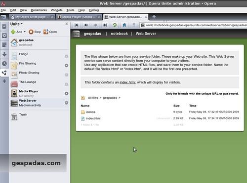 Opera Unite - Web Server