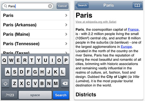 Encyclopedia iPhone App
