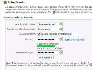 Website Tutorial : addon Domains