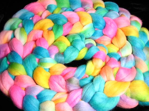 CMY Party Mix - Hand Dyed Corriedale Spinning Fiber