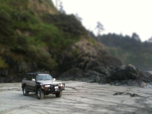 Toyota Land Cruiser on the Beach