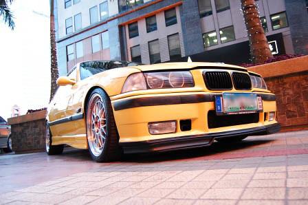 Dakar Yellow BMW M3 Front