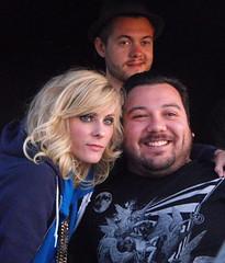 Maja Ivarsson, Fredrik Nilsson with fan