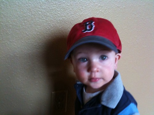 Jude's first sox cap