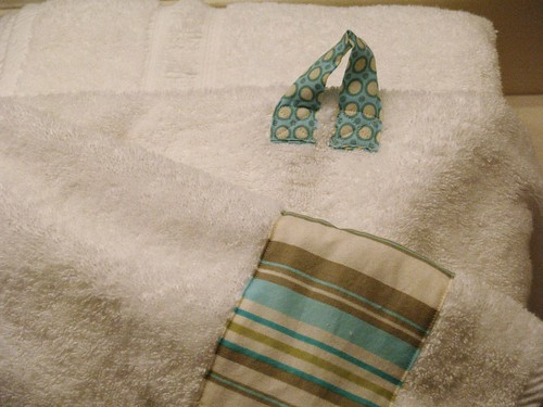 Decorated Towels, Band and Hook