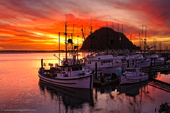 Morro Bay Sunset - Harbor View