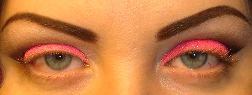 Neon Pink Glitter Tutorial