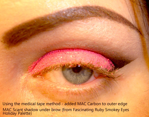 MAC Carbon Eye shadow on outer corners