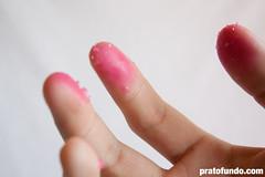 Outubro Rosa: Açúcar colorida mancha