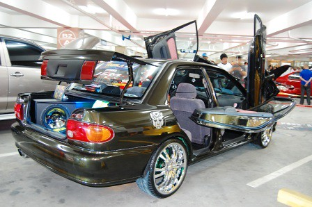 Mitsubishi Lancer by Full Throttle Auto Worxs Rear right side