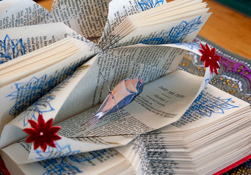 Altered Book: Looking for signs of a safe return home