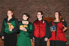 The grooms attendants and their dragons.