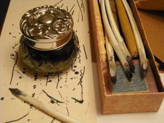 ink jar and quills