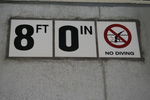 the no diving is really optional