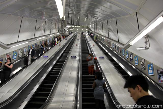London Tube escalators
