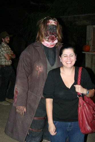 Alma and a zombie